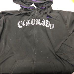 Nike Therma-fit Colorado Rockies Zip Hoodie 2XL